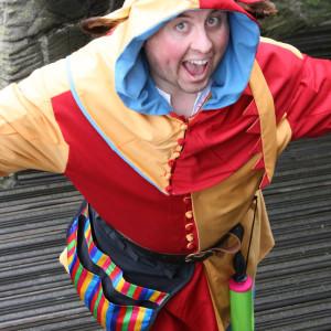Man dressed as jester