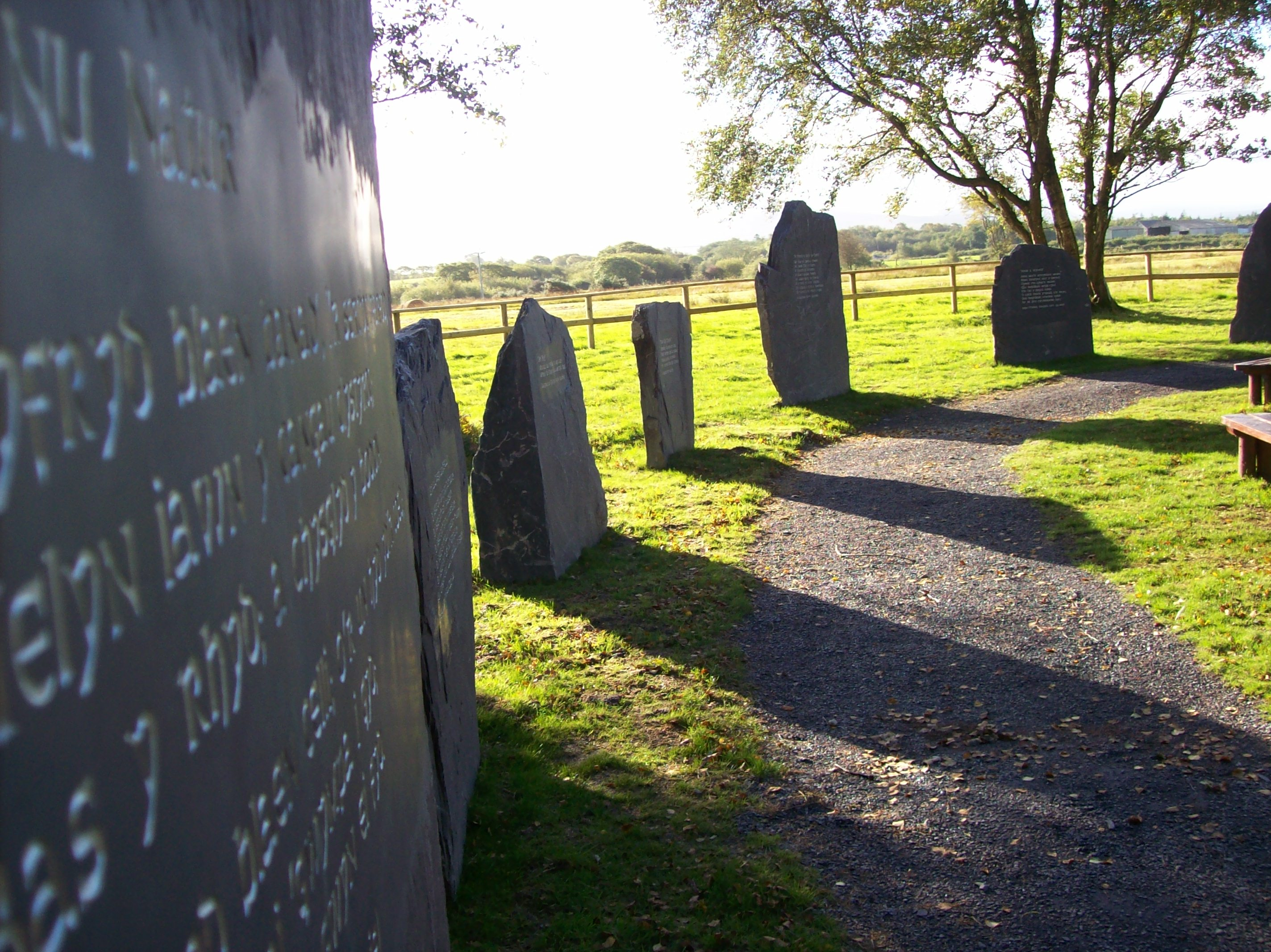 Large engraved standing stones